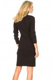 Silvian Heach |  Midi dress with button details Pueblo | black  | Picture 6