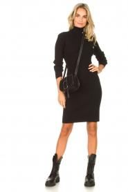 Silvian Heach |  Midi dress with button details Pueblo | black  | Picture 3