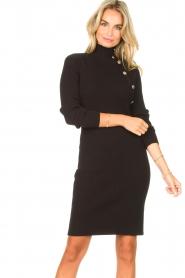 Silvian Heach |  Midi dress with button details Pueblo | black  | Picture 4