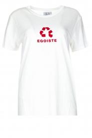Zoe Karssen | T-shirt Egoiste | wit  | Afbeelding 1