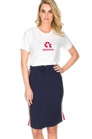Zoe Karssen | T-shirt Egoiste | wit  | Afbeelding 2