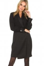 Dante 6 | Blazer jurk Marigold | zwart  | Afbeelding 2