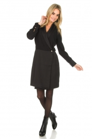 Dante 6 | Blazer jurk Marigold | zwart  | Afbeelding 3