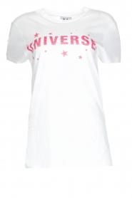 Zoe Karssen | T-shirt Universe | wit  | Afbeelding 1