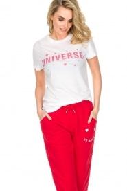 Zoe Karssen | T-shirt Universe | wit  | Afbeelding 2