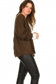 Les Favorites :  Knitted cardigan Miranda | brown - img5
