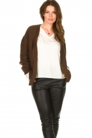 Les Favorites :  Knitted cardigan Miranda | brown - img2