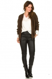 Les Favorites :  Knitted cardigan Miranda | brown - img3