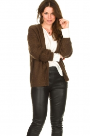 Les Favorites :  Knitted cardigan Miranda | brown - img4