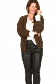 Les Favorites :  Knitted cardigan Miranda | brown - img7