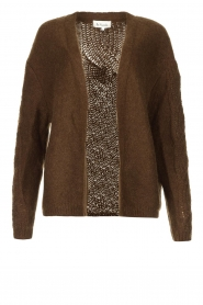 Les Favorites |  Knitted cardigan Miranda | brown  | Picture 1
