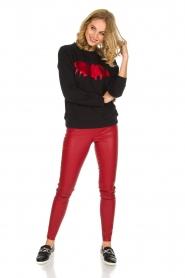 Zoe Karssen | Luxe trui Bat | rood  | Afbeelding 3
