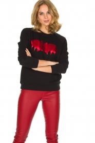 Zoe Karssen | Luxe trui Bat | rood  | Afbeelding 2
