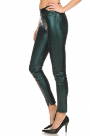 Dante 6 |  Metallic leather legging Tyson | green  | Picture 4