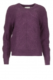 Les Favorites |  Knitted sweater Babs | purple  | Picture 1