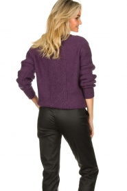 Les Favorites |  Knitted sweater Babs | purple  | Picture 6