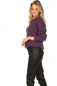 Les Favorites |  Knitted sweater Babs | purple  | Picture 5