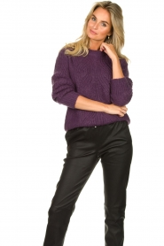 Les Favorites |  Knitted sweater Babs | purple  | Picture 2