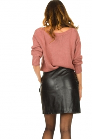 Les Favorites |  Knitted sweater Sabina | pink  | Picture 7