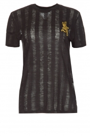 Zoe Karssen | T-shirt Climbing Leopard | zwart  | Afbeelding 1