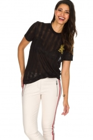 Zoe Karssen | T-shirt Climbing Leopard | zwart  | Afbeelding 2