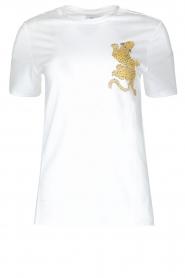 Zoe Karssen | T-shirt Climbing Leopard | wit  | Afbeelding 1