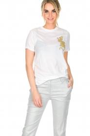 Zoe Karssen | T-shirt Climbing Leopard | wit  | Afbeelding 2