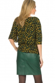 Dante 6 |  Leather skirt Staci | green  | Picture 5