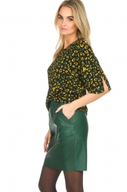 Dante 6 |  Leather skirt Staci | green  | Picture 4