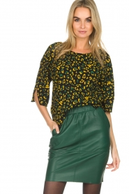 Dante 6 |  Leather skirt Staci | green  | Picture 2
