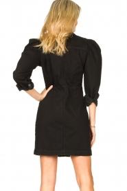 Silvian Heach   Denim jurkje met pofmouwen Filner   zwart    Afbeelding 6