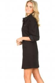 Silvian Heach   Denim jurkje met pofmouwen Filner   zwart    Afbeelding 5