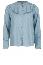 Set | Denim blouse Lisa | blauw  | Afbeelding 1