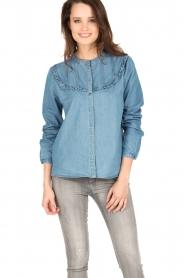 Set | Denim blouse Lisa | blauw  | Afbeelding 2