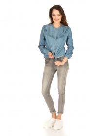 Set | Denim blouse Lisa | blauw  | Afbeelding 3