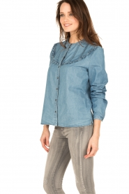 Set | Denim blouse Lisa | blauw  | Afbeelding 4