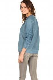 Set | Denim blouse Lisa | blauw  | Afbeelding 5