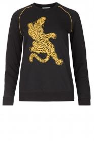 Zoe Karssen | Trui Climbing Leopard | zwart  | Afbeelding 1
