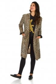 Zoe Karssen | Trui Climbing Leopard | zwart  | Afbeelding 4