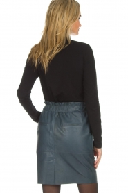 Dante 6 |  Leather skirt Staci | blue  | Picture 5
