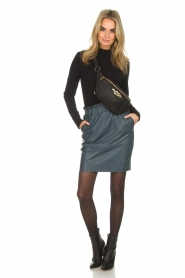 Dante 6 |  Leather skirt Staci | blue  | Picture 3