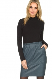 Dante 6 |  Leather skirt Staci | blue  | Picture 2