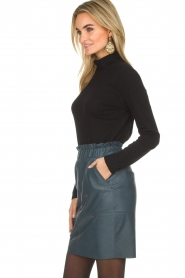 Dante 6 |  Leather skirt Staci | blue  | Picture 4