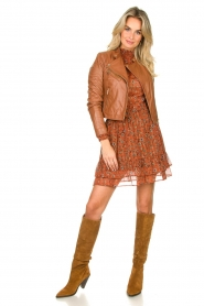 Les Favorites |  Transparant blouse Nova | brown  | Picture 3