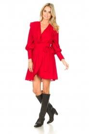 Silvian Heach | Overslag jurk Alkasin | rood  | Afbeelding 3