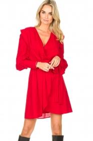 Silvian Heach | Overslag jurk Alkasin | rood  | Afbeelding 2