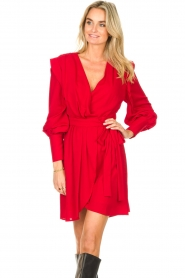 Silvian Heach | Overslag jurk Alkasin | rood  | Afbeelding 4