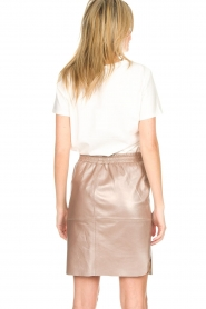 Dante 6 |  Leather skirt Comet | metallic  | Picture 5