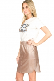 Dante 6 |  Leather skirt Comet | metallic  | Picture 4