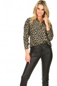 Les Favorites |  Leopard print blouse Fien | animal print  | Picture 2